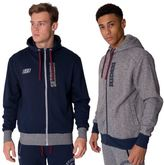 Skechers Mens Sweat Hoodie Casual Zip Up Hoody Coat Contrast Hooded Jacket S-XXL