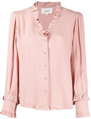 BA&SH Frilled Neck Blouse