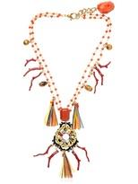 Dolce & Gabbana Collana Con Ciondoli In Rafia