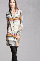 Forever 21 FOREVER 21+ Miss Truth Satin Shirt Dress