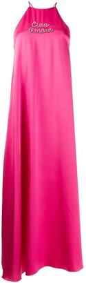 Giada Benincasa Ciao Amore satin maxi dress