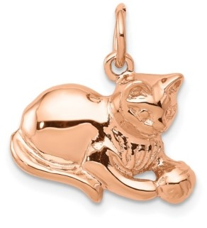 Macy's Cat Charm 14k Rose Gold