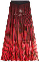 Balenciaga Pleated Knit Skirt