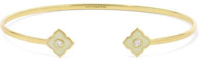 Amrapali Panashri 18-karat Gold, Diamond And Enamel Cuff