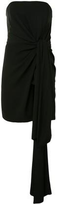 16Arlington Strapless Draped Mini Dress