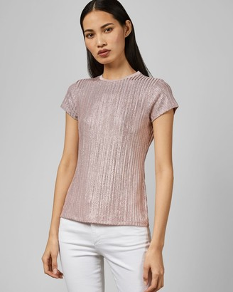 Ted Baker Metallic Fitted T-shirt