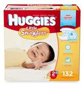 Huggies Little Snugglers 132-Count Size 2 Giant Pack Diapers