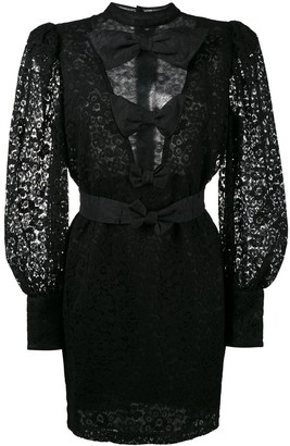 Alessandra Rich Lace Bow Detail Dress