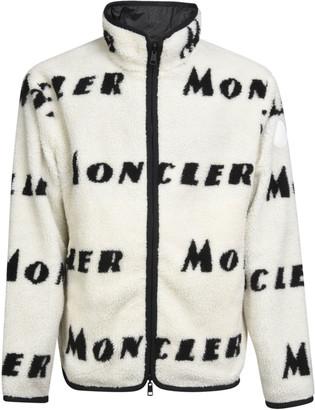 Moncler High-neck Zipped Logo Reversible Cardigan