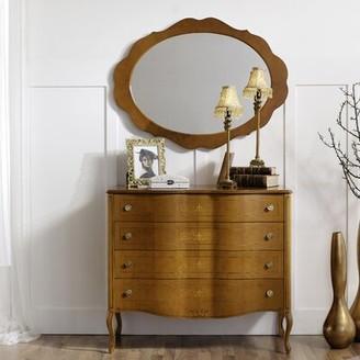 Canora Grey Royce 4 Drawer Dresser with Mirror