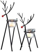 San Miguel Sam Miguel Christmas Reindeer Votive Candle Holder 2-piece Set