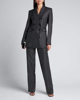 Michael Kors Crystal Pinstriped Double-Breasted Dinner Jacket