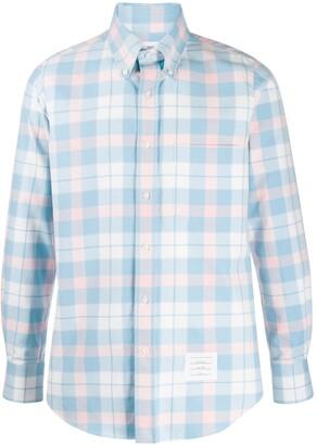 Thom Browne Flannel Tartan Check Shirt