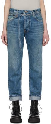 R 13 Blue Paperbag Hayden Jeans