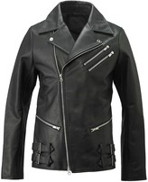 Tokkou Unisex Cowhide Leather Jacket In Black