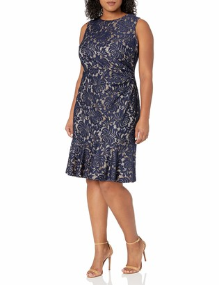 Eliza J Women's Size Sleeveless Dress Peplum Hem