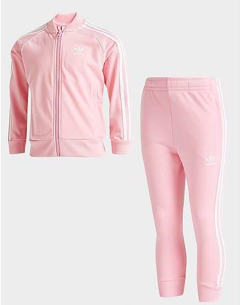 be1f1e4c9b1 Girls Pink Adidas Tracksuit - ShopStyle UK