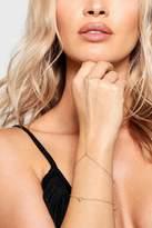 boohoo Jodie Heart Bracelet & Simple Hand Harness