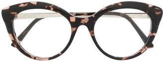 Emmanuelle Khanh Tortoiseshell Cat Eye Glasses
