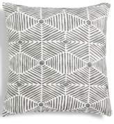 "Hallmart Collectibles Gray Geo-Print Textured 18"" Square Decorative Pillow"