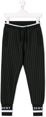 DKNY Pinstriped Tapered Trousers