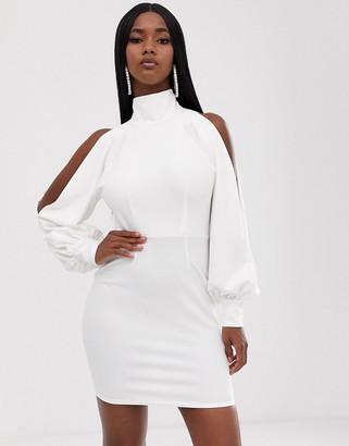 Asos DESIGN seamed halter drape mini dress