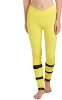 Electric Yoga Bright Yellow Slim V-Line Mesh Leggings