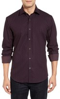 Bugatchi Classic Fit Step Check Sport Shirt