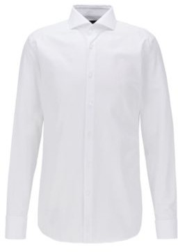 Slim-fit shirt in Italian cotton with double cuffs