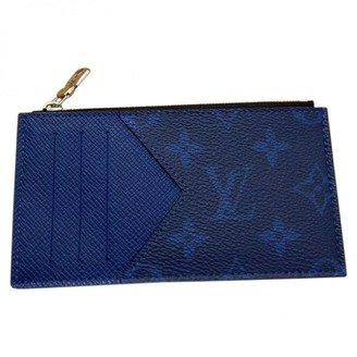 Louis Vuitton Coin Card Holder Blue Cloth Small bags, wallets & cases