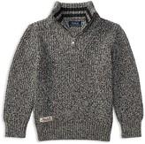 Ralph Lauren Boys' Marled Quarter-Zip Sweater - Little Kid