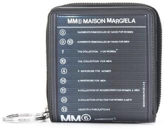 MM6 MAISON MARGIELA zip-around logo wallet