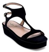Valentino Velvet Platform Sandals