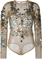 Amen sequined blouse - women - Polyamide/Spandex/Elastane/PVC - 40