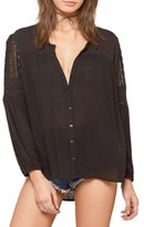 Amuse Society Women's Crawford Lace Inset Top