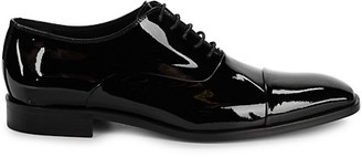 Saks Fifth Avenue Made In Italy Cap-Toe Patent Leather Oxfords