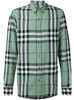 Burberry Men's Green Linen Shirt.