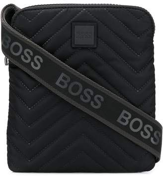 HUGO BOSS logo strap messenger bag