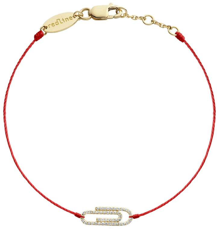 Redline Trombone Red String Bracelet - Yellow Gold
