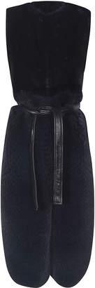 Blancha Fur Detail Long Vest