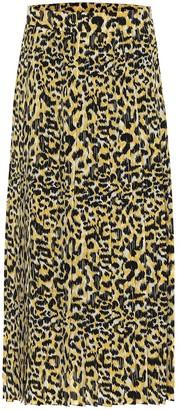 Gucci Leopard-print silk skirt