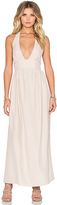 Amanda Uprichard Mercer Halter Maxi Dress