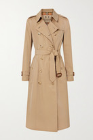 Burberry The Chelsea Long Cotton-gabardine Trench Coat - Beige