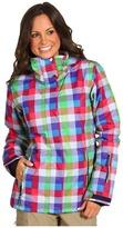 Roxy Jetty 8K Insulated Snow Jacket (Fancy Plaid) - Apparel