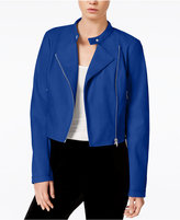 Bar III Cropped Faux-Leather Jacket, Only at Macy's