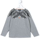 Armani Junior feather print T-shirt