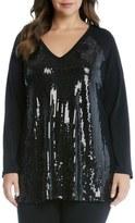 Karen Kane Karen Karen Sequin Front Top (Plus Size)