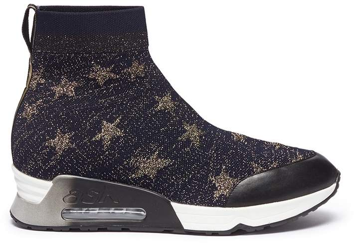 Ash 'Lulla Star' intarsia knit sock sneakers