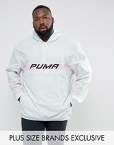 Puma Plus Half Zip Panel Windbreaker In Blue Exclusive To Asos 57659902