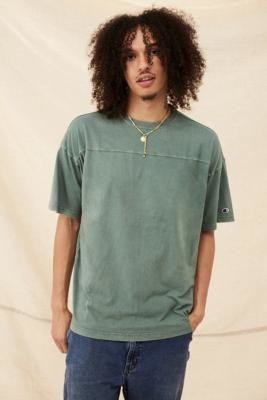 Champion Green Drop Shoulder T-Shirt - Green S at Urban Outfitters